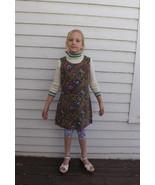 60s Girls Dress Paisley Vintage 1960s 10 12 14 ... - $19.99