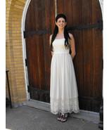 1970s Ivory Lace Dress Wedding Bridal Formal Sh... - $89.99
