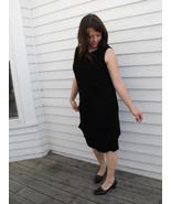 60s Black Sheath Dress Sleeveless Tiered LBD Vi... - $25.00