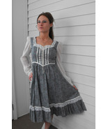Vintage Gunne Sax Dress 70s Country Blue Floral... - $79.99