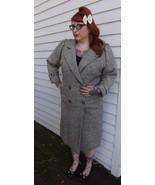 Tweed Winter Coat Vintage 80s Retro 1980s Gray ... - $39.99