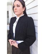 40s Black Soutache Jacket Vintage Dudens Davenp... - $39.99