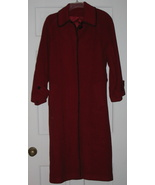 Vintage Womens Red Wool Coat Manchester Size 8 - $149.85