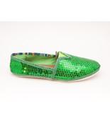 Sequin | Kelly Green Canvas Slip On Espadrille ... - $44.00
