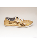 Sequin | CVO Gold Canvas Sneaker Tennis Shoes b... - $39.99