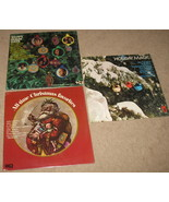 3 Vintage Collector Limited Christmas LP Vinyl ... - $29.84