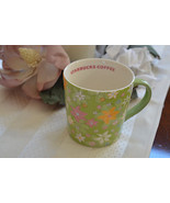 Starbucks 2005 Green Pastel Spring Time Flowers... - $33.81