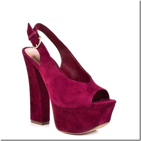 Jessica Simpson Prinnce cranberry platform sandal maya Sz 7.5m new women shoes