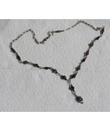 Vintage Sterling Amethyst/Ruby Choker Necklace - $148.32
