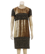 Chanel Gold and Black Short Sleeve Knit Dress (... - $1,995.00
