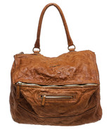 Givenchy Tan Distressed Leather Pandora Satchel... - $1,095.00