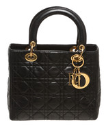 Christian Dior Black Leather Cannage Lady Dior ... - $2,195.00