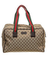 Gucci Beige Multicolor Monogram Canvas Duffle Bag - $595.00