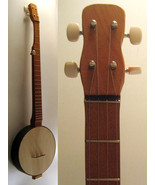 Banjo Fireside Model/Wooden Head Banjo By Backy... - $149.00