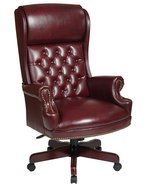 Deluxe High Back Swivel Office Oxblood Burgundy... - $299.99