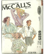 McCall's Sewing Pattern 6525 Misses Womens Blou... - $12.99