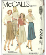 McCall's Sewing Pattern 6734 Misses Womens Skir... - $12.99