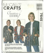 McCall's Sewing Pattern 7645 Misses Womens Jack... - $19.99