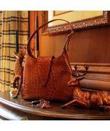 Concealed Carry Crocodile Print Leather Hobo Ha... - $289.99