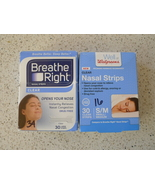Nasal Strips Lot Breathe Right Large Clear 34 W... - $10.00