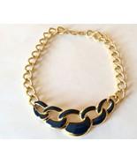 Napier Necklace Nautical Rope Blue Enamel Bonus... - $27.43