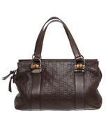 Gucci Brown Leather Guccissima Bamboo Double Ha... - $995.00
