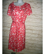 VNT 60-70s HABAND DRESS sz 14P or SMALLER  CORA... - $14.99