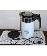 Corning Ware Cornflower Blue Coffee Pot 10 Cup ... - $69.97