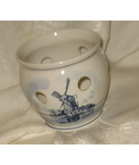 Vintage Handpainted Delft Crocus Bulb Pot Bowl - $19.95