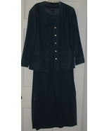 Baccini Blue Denim Dress w/ Jacket Size Small - $23.75