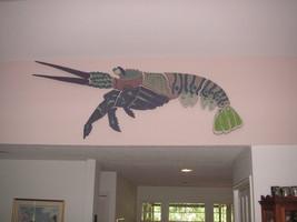 Large Ceramic Multi-color Lobster Wall Sculpture - $1,500.00