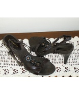 Bandolino Shoes Slingback Heels Brown Leather P... - $14.99