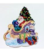 Santa Christmas Pin Brooch Elf Christmas Tree S... - $8.82