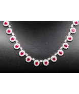 18k White Gold Diamond and Ruby Necklace - $59,995.00