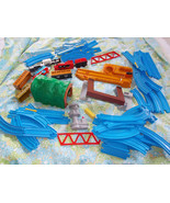 Huge Lot Tomy Train 47 Track Pieces, Tunnel, Tr... - $53.46