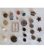 Vintage Buttons Indian Head JHB Raggedy Andy Bi... - $11.99