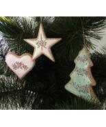 Ornaments, Ceramic Christmas Cookies, Set of 3:... - $10.00