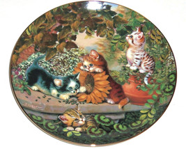 Cat Kitty Collector Plate Sunny Days Frisky Fel... - $49.95