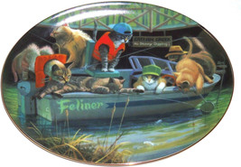 Collector Plate Kitty Cat Catfish Creek Boat Fi... - $49.95