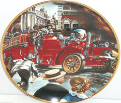 Fire Truck Museum Collector Plate 1922 Ahrens F... - $49.95