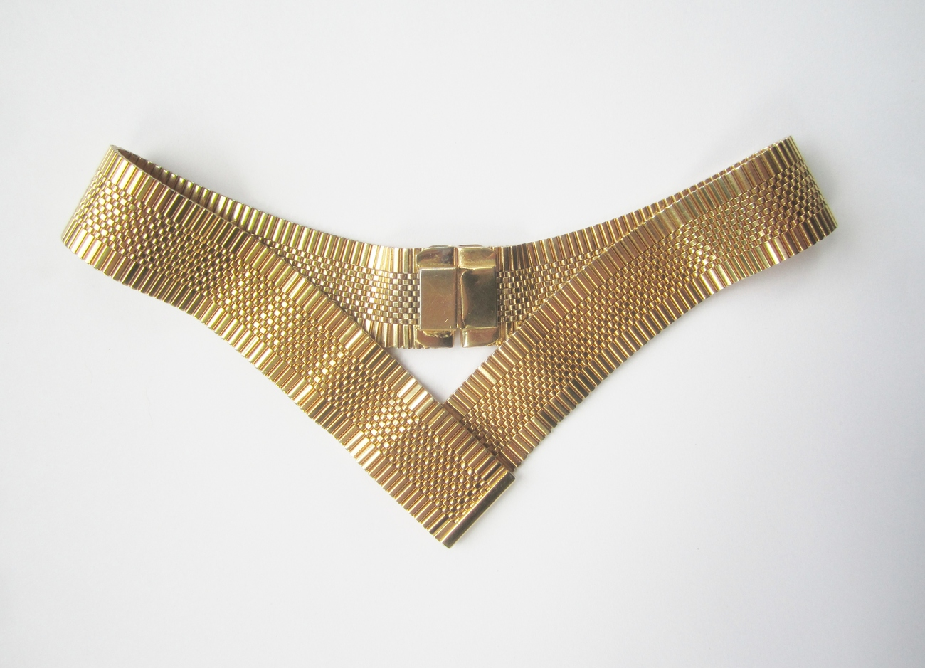 Napier Jewels of Fantasy Gold Plated Mesh Collar Necklace