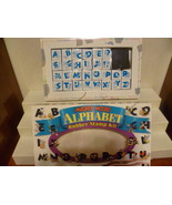 MICKEY MOUSE ALPHABET RUBBER STAMP KIT W BOX & ... - $8.00