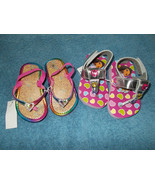 Little Girls Sandals Shoes Size S 5/6 Heart Dor... - $14.84