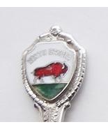 Collector Souvenir Spoon USA North Dakota Bison... - $8.98