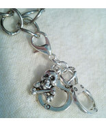Handcuff Skull  Clip Charm Zipper Pull Great Fo... - $5.99