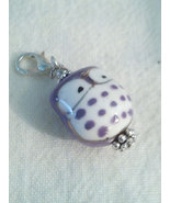 Adorable Hand Painted Porcelain Purple Owl Zipp... - $0.00