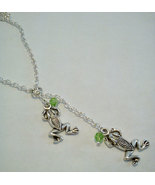 Tibetan Silver Frog Y Lariat Necklace 26 Inches... - $15.99