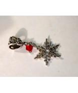 Snowflake Tibetan Silver Charm Fit European Cha... - $0.00