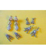Vintage Clear Rhinestone Glitzy Dangle Earrings... - $15.99