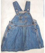 Baby Gap Lined Overall Denim Jumper Dress 6-12 Mos - $14.85